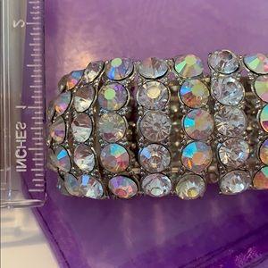 Jewelry - Rhinestone Crystal Cuff Bracelet EUC